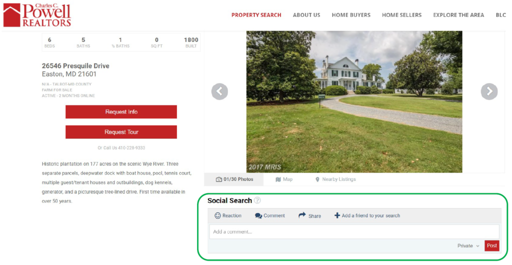Online home search - social search & search party with Powell Realtors | Eastern Shore real estate