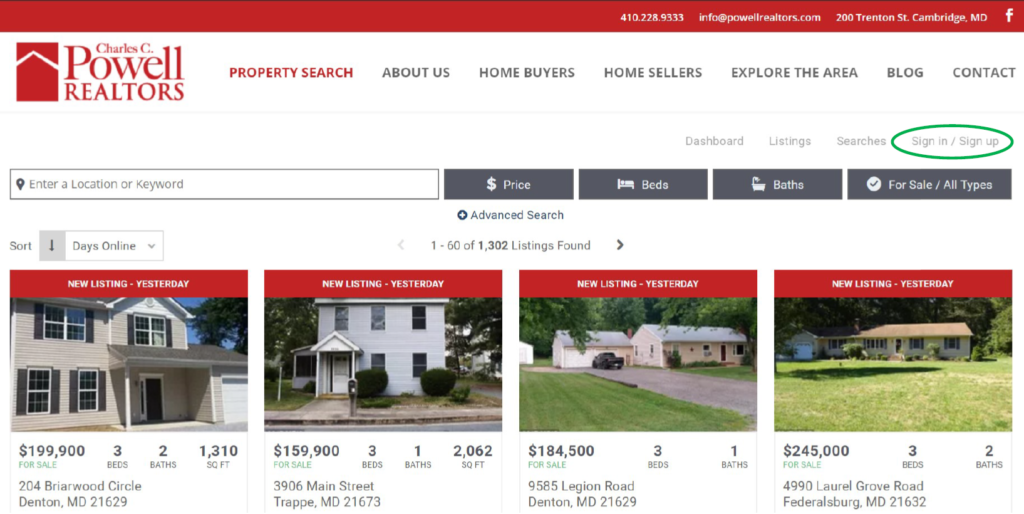 Sign up for social search - online home search & house hunting with family & friends - From Powell Realtors | Eastern Shore Real Estate