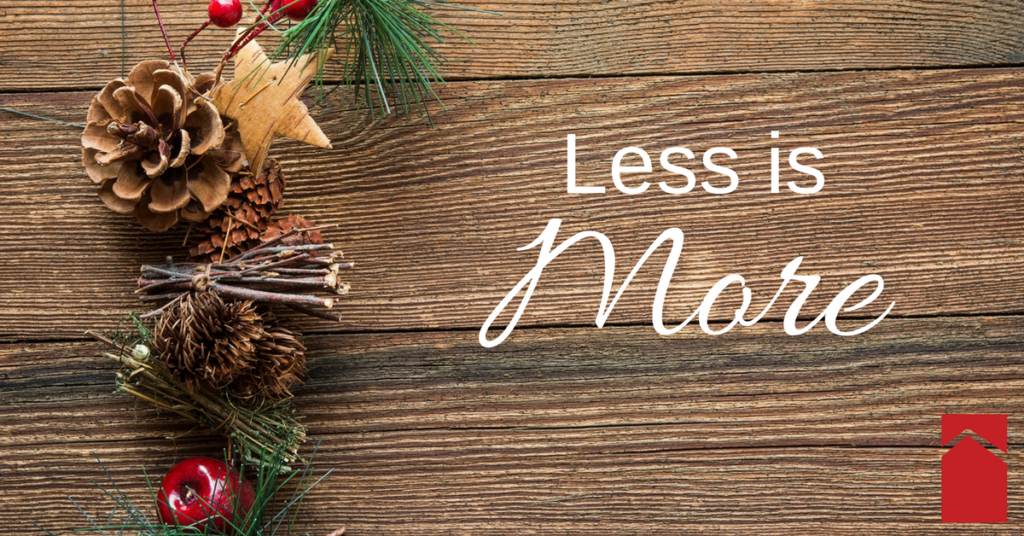Less is More when it comes to holiday decorating if you're trying to sell your house. Advice from Powell Realtors, Eastern Shore real estate experts!