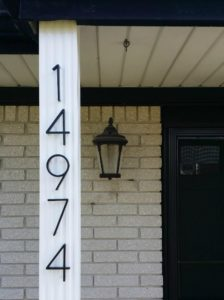 distinct house numbers