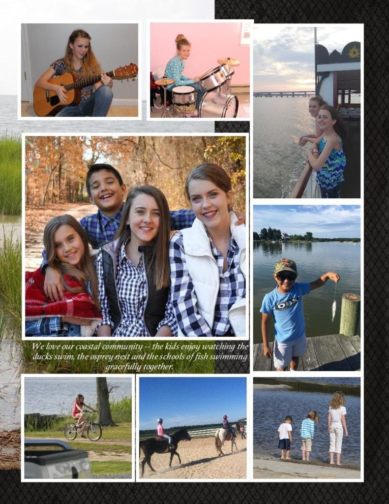 Jessica Lewis, Realtor at Powell Realtors, shares photos of her family enjoying the Eastern Shore lifestyle