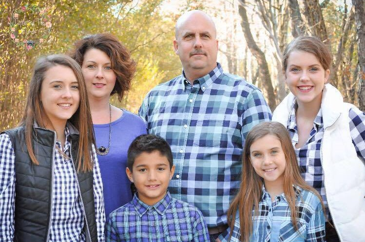 Jessica Lewis, Eastern Shore Realtor, with her family